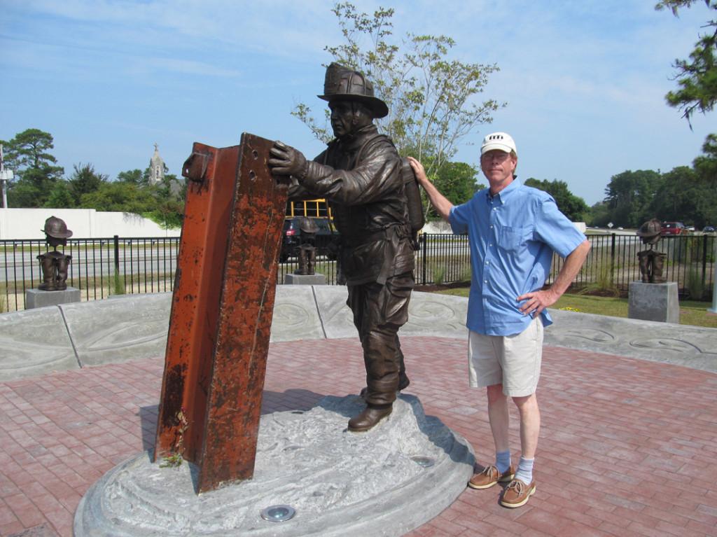 Ed Walker, Sculptor, Wilmington NC firefighter by Ed Walker