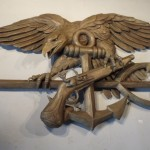 Marine Corp Plaque Ed Walker Sculpture