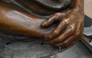 thomas Cutinella  hands in bronze